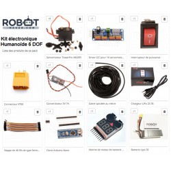Kit électronique pour kit humanoïde 6 Dof