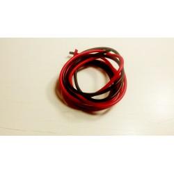 Paire de fils rouge et noir