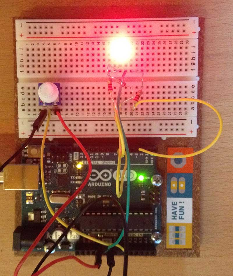 led rvb arduino rouge