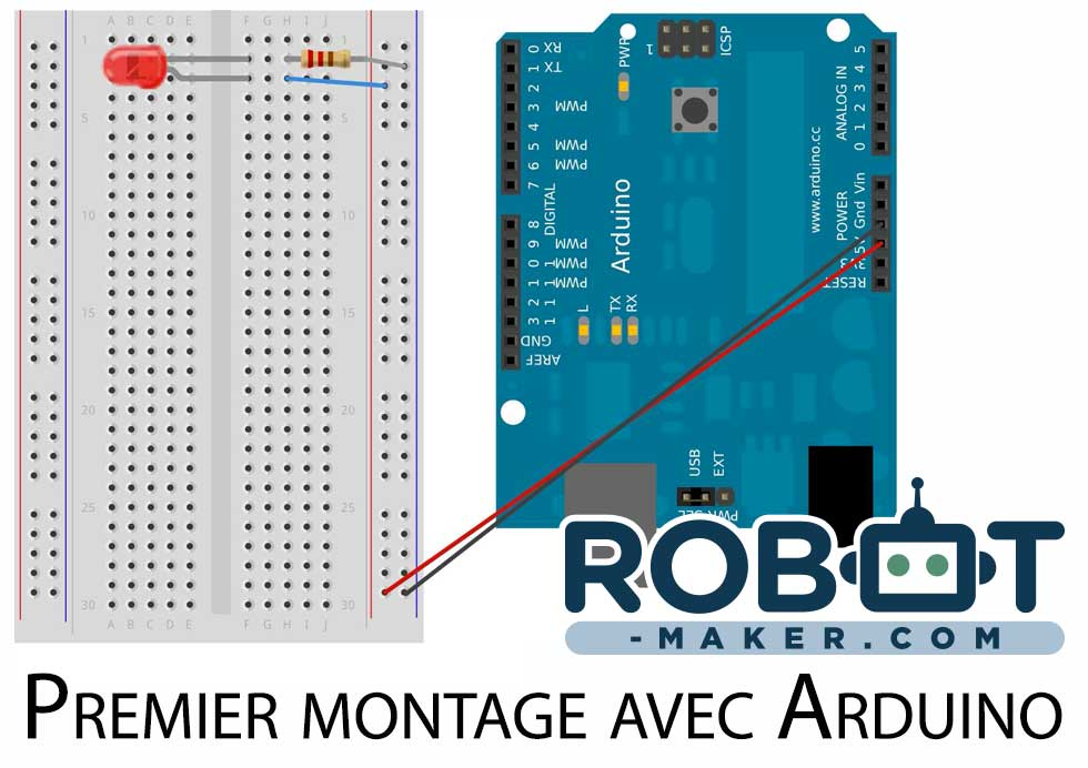 montage simple arduino