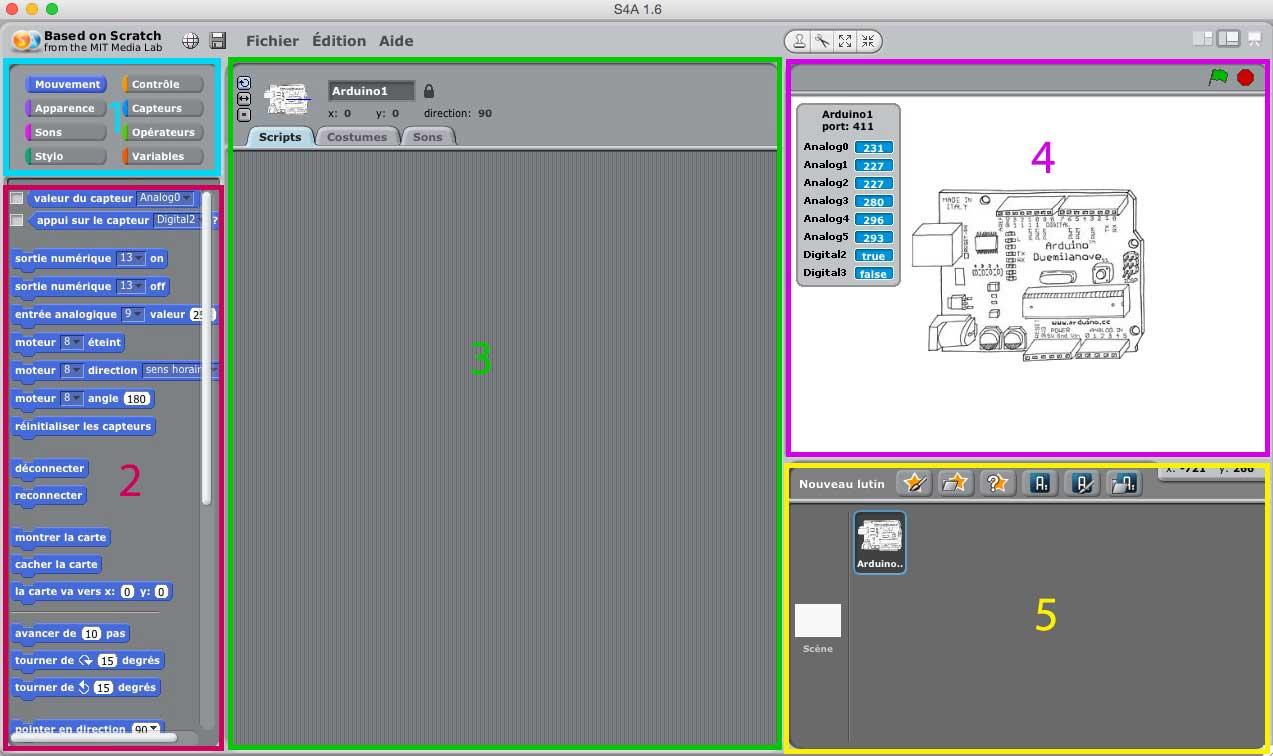 zônes Scratch pour Arduino