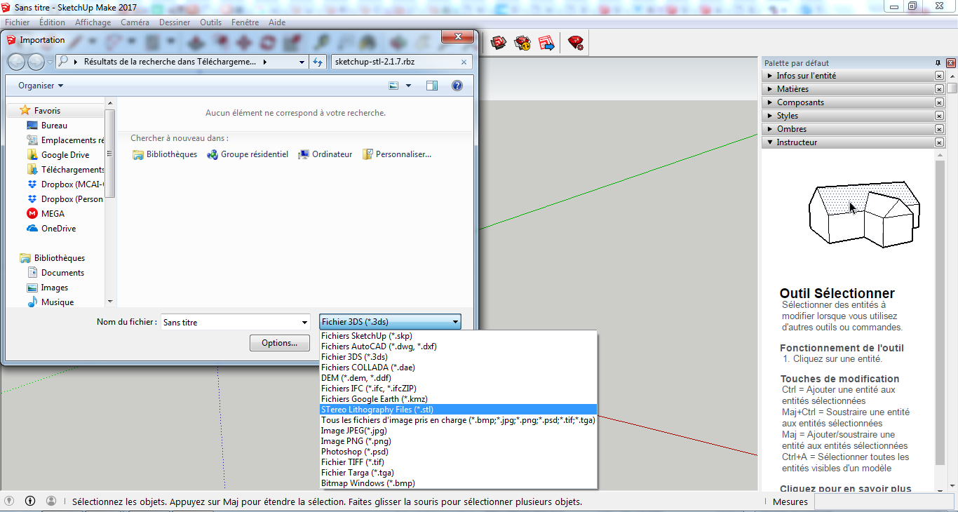 Importer des fichiers stl 3d sur sketchup for How to import stl into sketchup