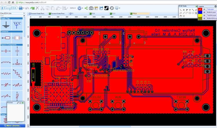 Logiciel de simulation de circuits électroniques et de conception de circuits imprimés - EasyEDA