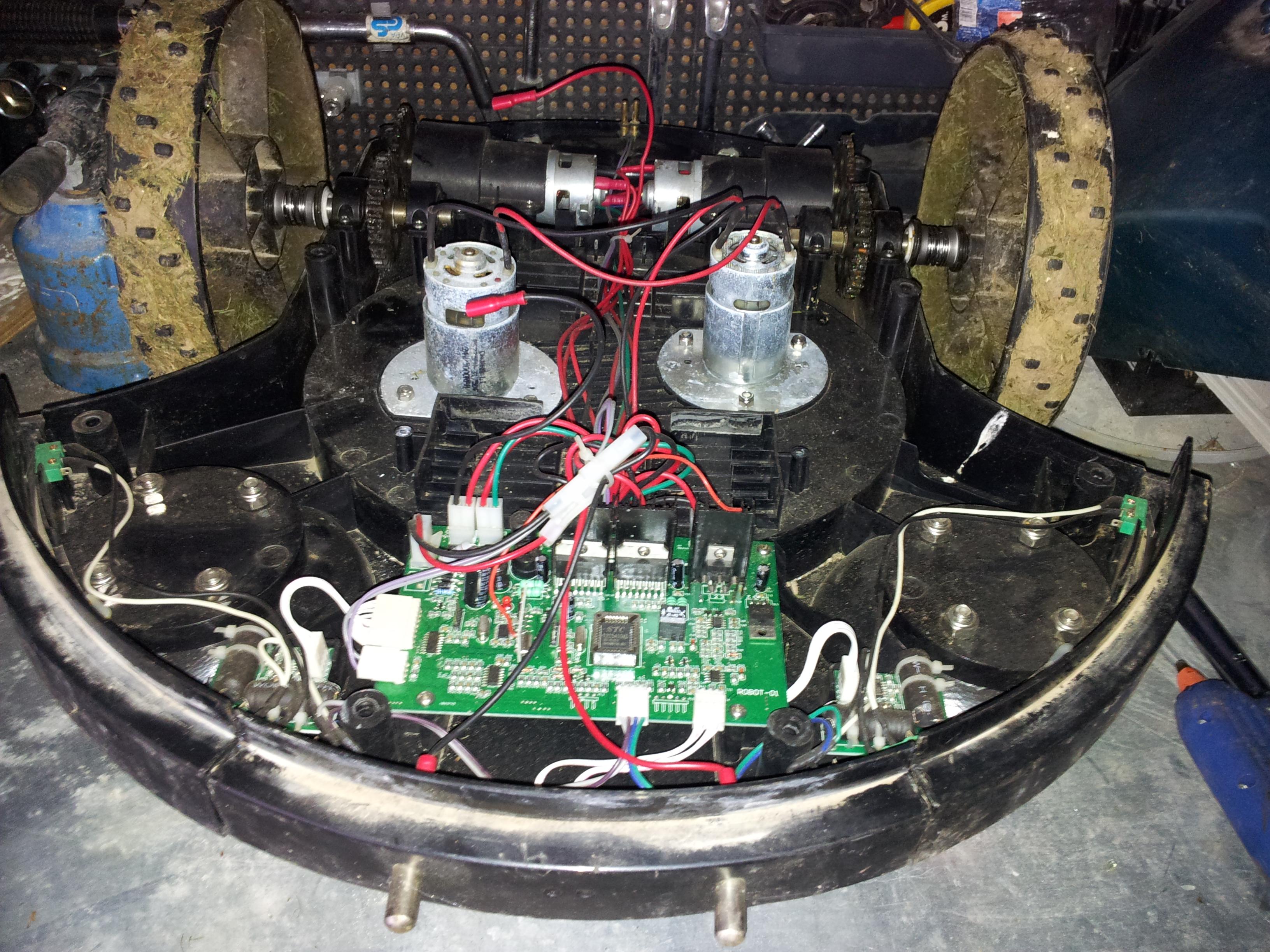 Electronique robot tondeuse maker
