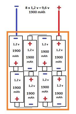 fabrication d 39 une batterie 9 6v 5600mah energie robot maker. Black Bedroom Furniture Sets. Home Design Ideas