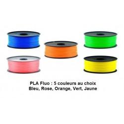 Filament PLA Fluo 1KG 5 couleurs au choix