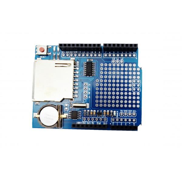 Shield carte SD+ RTC pour aduino uno