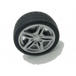 Roue 45mm avec pneu