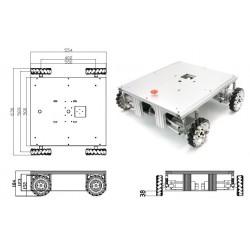 Robot mecanum avec suspensions XL