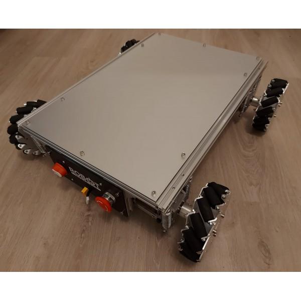 Robot mecanum avec suspensions