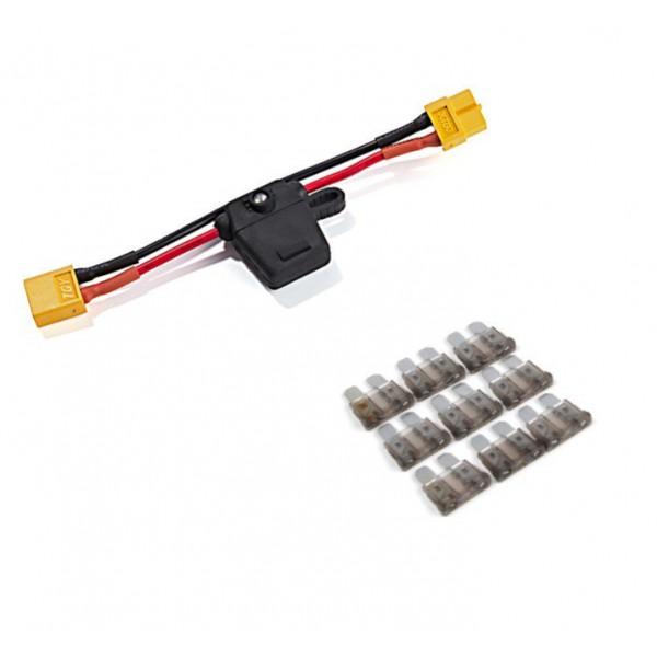 Porte fusible sur câble avec prise XT60 et voyant