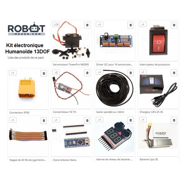 Kit électronique pour kit humanoïde 13 Dof