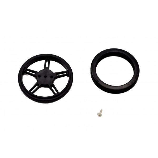 Roue 60mm avec pneu