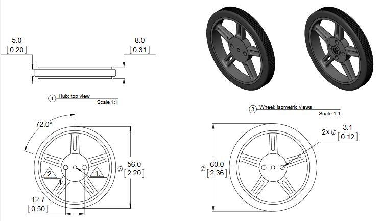 feetech wheel